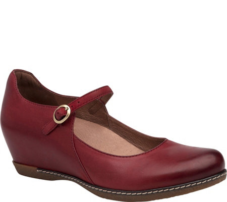Dansko Hidden Wedge Leather Mary Janes - Loralie