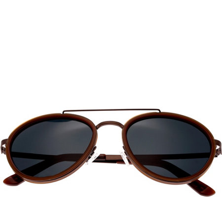 Breed Gemini Brown Titanium Sunglasses w/ Polarized Lenses
