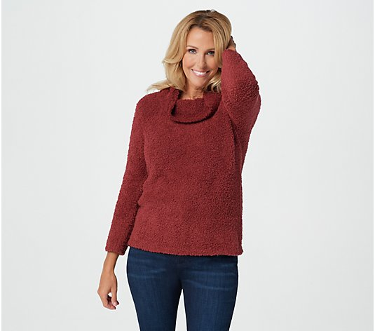 Barefoot Dreams CozyChic Cowl Neck Pullover