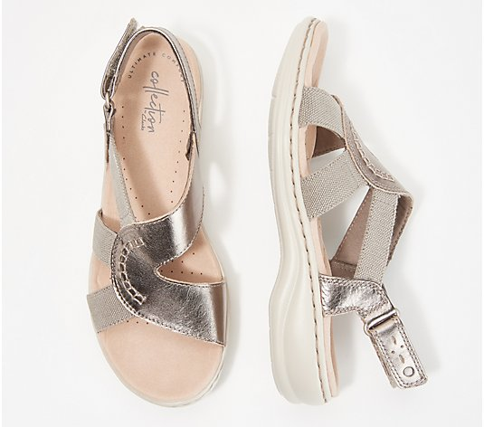 """As Is"" Clarks Collection Backstrap Sandals- Leisa Joy"