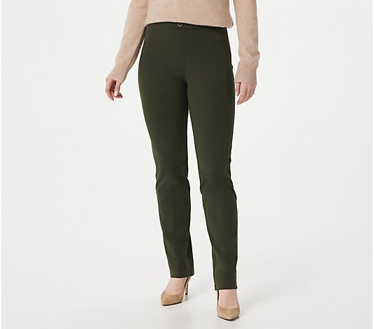 Susan Graver Weekend Regular Premium Stretch Pull-On Pants