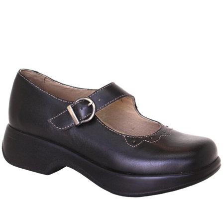 Dromedaris Leather Mary Jane Shoes Selma