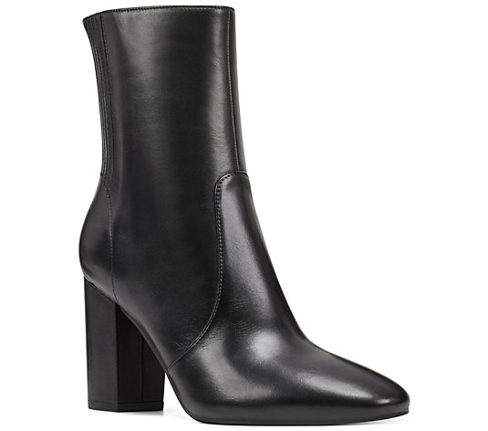 Nine West Pointed Toe Leather Ankle Booties - Windsor