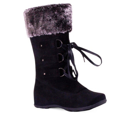 Wanted Lace-Up Mid-Calf Boots - Iceberg
