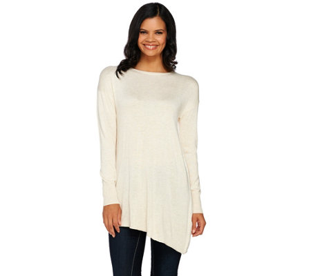 H by Halston Pullover Sweater with Crossover Back Detail