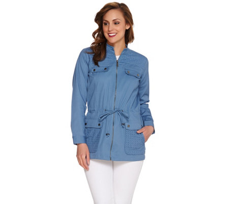 Linea by Louis Dell'Olio Anorak Jacket with Eyelet Detail