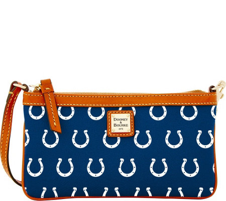 Dooney & Bourke NFL Colts Large Slim Wristlet
