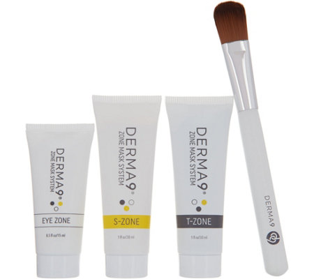 Derma9 Zone Mask System 3-piece Kit with Brush