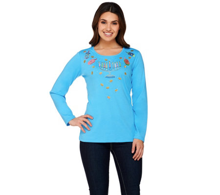 """As Is"" Quacker Factory Festival of Lights Long Sleeve T-shirt"