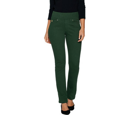 Belle by Kim Gravel Flexibelle Pull On Straight Leg Jeans Petite