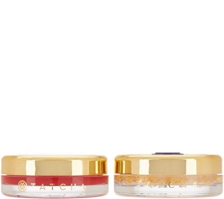 TATCHA Camellia Red & Gold Lip Balm Set