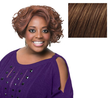 LUXHAIR by Sherri Shepherd Mid Length Wavy Bob Wig