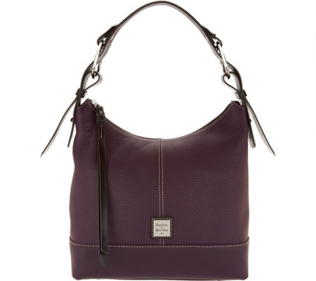 d88aa30dc2d0 Dooney   Bourke Pebble Leather Hobo Handbag- Gracie - Page 1 — QVC.com