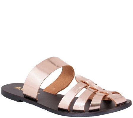 Nomad Leather Slide Sandals - Perth