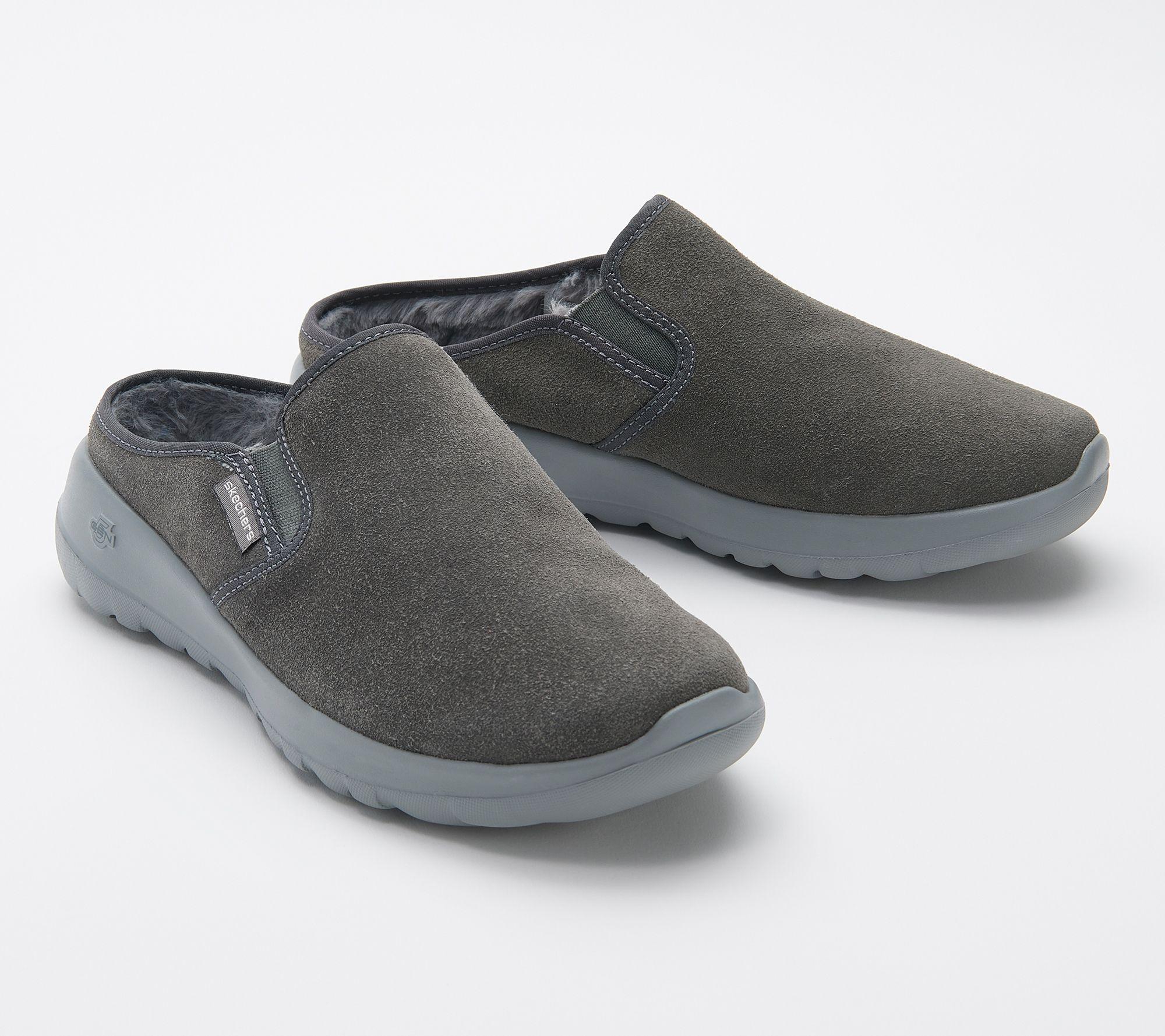 Delgado canal Químico  Skechers GOwalk Joy Water-Repellent Suede Clogs - Snuggly - QVC.com