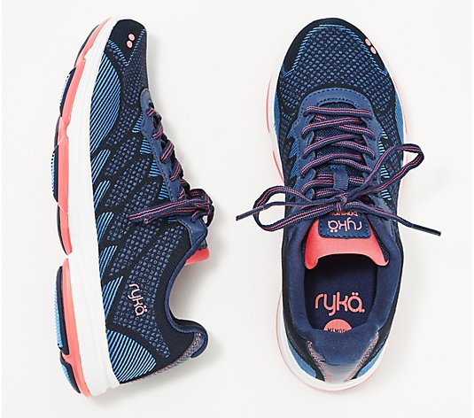 Ryka Knit Lace-Up Sneakers - Dominion