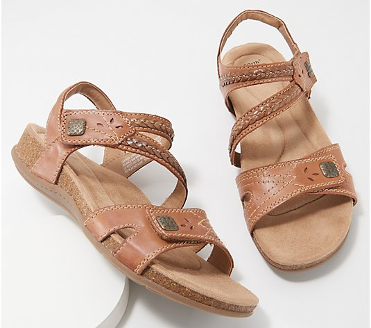Earth Origins Leather Braided Sandals - Bosk Benson