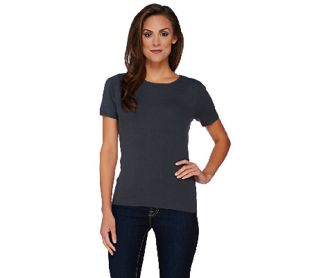 Linea by Louis Dell'Olio Whisper Knit Short Sleeve Top