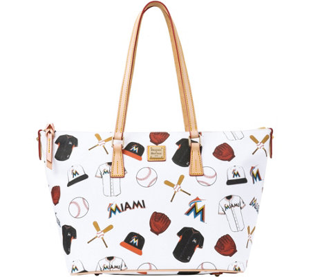Dooney & Bourke MLB Marlins Zip Top Shopper