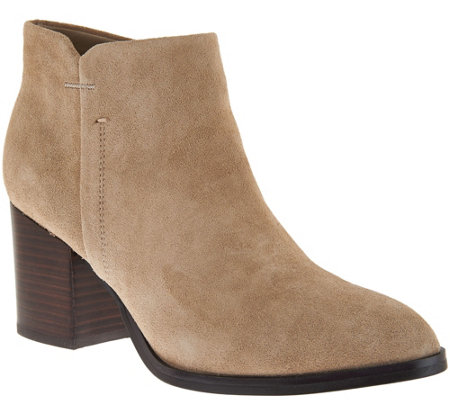 Marc Fisher Suede Block Heel Ankle Boots - Vandra