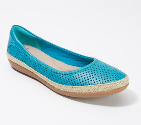 Clarks Perforated Leather Espadrilles - Danelly Adira