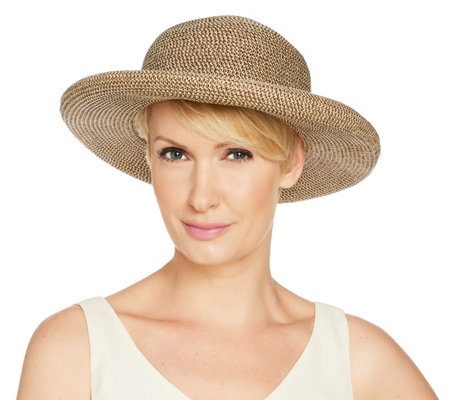 San Diego Hat Co Paperbraid Roll Brim Hat With Buckle