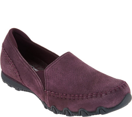 Skechers Relaxed Fit Suede Slip-On Shoes - Alumni