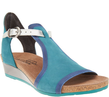 Naot Leather Wedge Sandals - Fiona