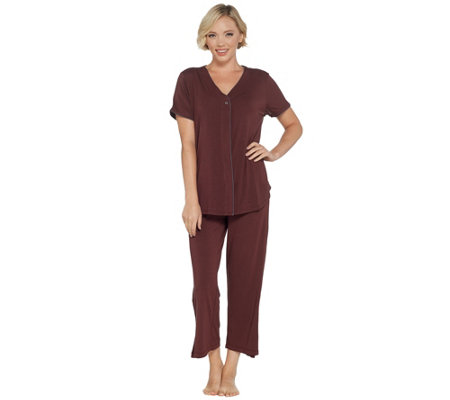 Barefoot Dreams Luxe Milk Jersey Short Sleeve Piped Pajama Set
