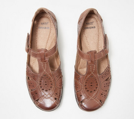 7ca2c7d6284e Earth Origins Leather Slip-On Shoes - Rapid Tatum - Page 1 — QVC.com