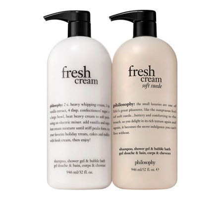Philosophy Super Size Fresh Cream Soft Suede Shower Gel Duo