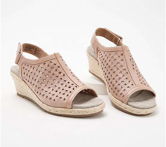 Earth Origins Leather Perforated Wedges - Naples Nevada