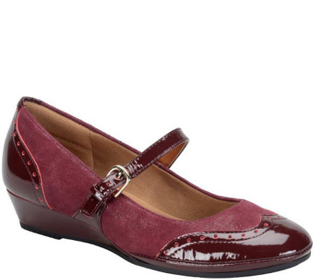 Comfortiva Suede Wedge  Mary Janes - Amherst