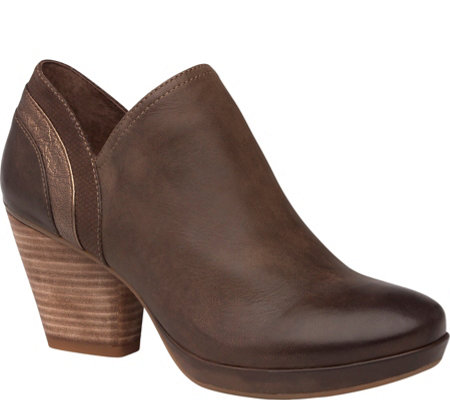 Dansko Leather Closed Back Clogs - Marcia