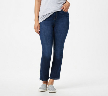 LOGO by Lori Goldstein 5-Pocket Straight Leg Jeans