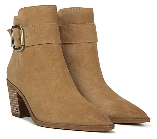 Sam Edelman Suede Ankle Boots with Buckle - Leonia