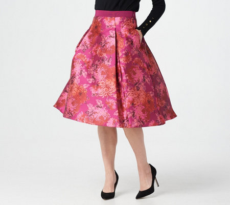 Isaac Mizrahi Live! Special Edition Floral Printed Ball Skirt