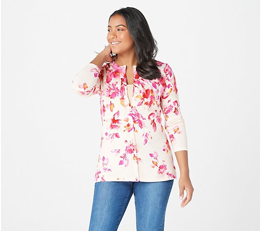 Isaac Mizrahi Live! Special Edition Floral Printed Cardigan