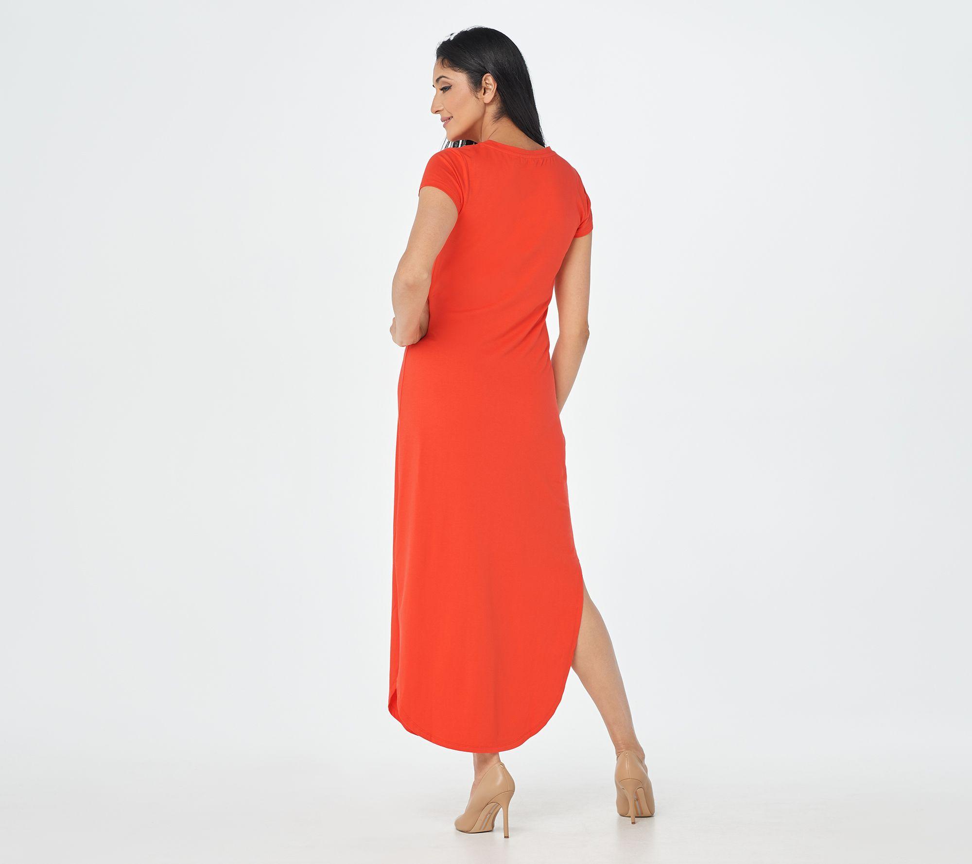 G.I.L.I. Petite Solid Maxi T-Shirt Dress - QVC.com