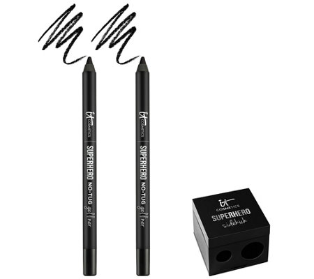 IT Cosmetics Superhero No-Tug Eyeliner Duo w/ Sharpener