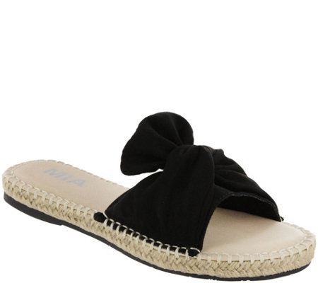MIA Shoes Flat Slide Sandals - Kensi