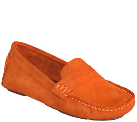 aa8e82b8888c0 Charleston Shoe Co. Suede Loafers - Tradd — QVC.com