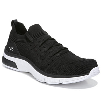 Ryka Seamless Stretch Knit Lace-up Walking Shoes - Romia - A426182 c68e7b3aa3e