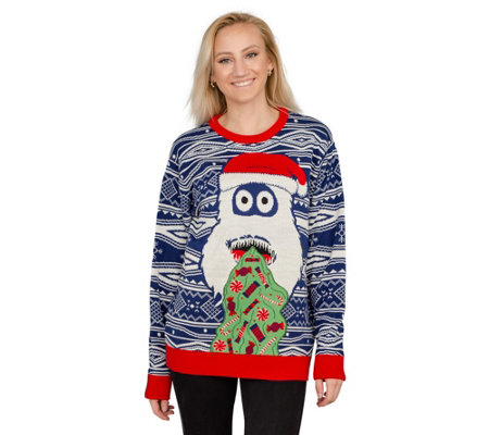 Ugly Christmas Sweater Yeti Santa Sweater