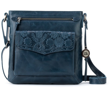 The Sak Ventura Flap Organization Leather Crossbody Bag —