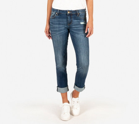 KUT from the Kloth Catherine Boyfriend Destructed Jeans