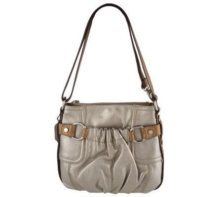 1df623b64f Tignanello Metallic Glove Leather Hobo Bag with Contrast Trim - Page ...