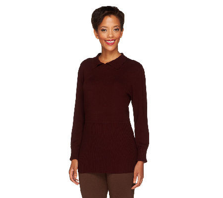 Linea by Louis Dell'Olio Whisper Knit Collar Sweater