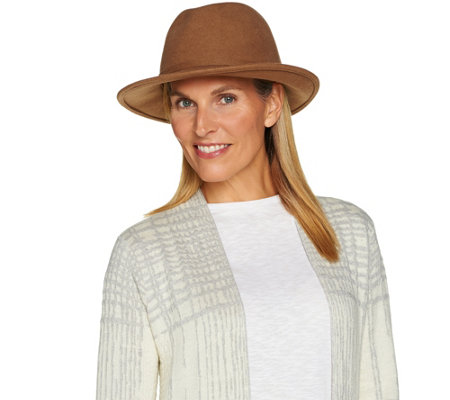 San Diego Hat Wool Felt Fedora with Removable Neck Wrap