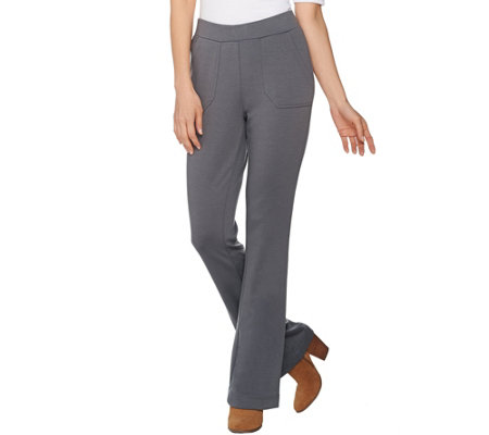 Lisa Rinna Collection Petite Ponte Knit Bootcut Pants